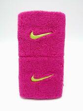"""Nike Swoosh Wristbands Fireberry/Volt 3"""" Men's Women's"""