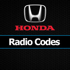 Honda radio codes CIVIC CRV JAZZ ACCORD INSIGHT Déverrouiller voiture Decode code UK