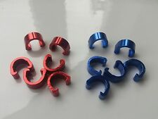 6x blue or Red Alloy Hydraulic Housing C-Clips mountain bike Brake Cable Hose