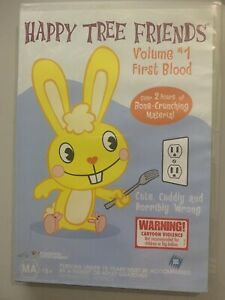 HAPPY TREE FRIENDS : First Blood - Vol 1. DVD 2002 Animated Comedy Series. [SBS]