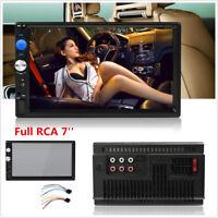 7INCH HD 2DIN MP5 Player Car Stereo USB TF AUX  BT Touch Bluetooth Radio FM 1080