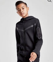 NIKE KIDS TECH HOODIE 86H050-023 BLACK AGE 5-6 YEARS - Brand New With Tags
