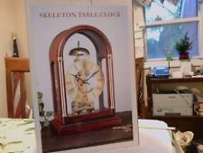 Galleria Skeleton Table Clock 15 Days Key Wind Brass Plated Dial New In Box