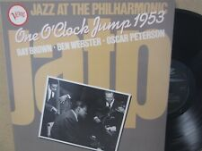 Ray Brown, Ben Webster, Oscar Peterson ‎– One O'Clock Jump 1953 Live JATP LP NM
