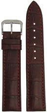 22mm RIOS1931 for Panatime Burgundy - Louisiana Leather Watch Band w Gator Print