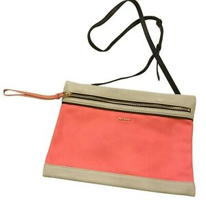 Paul Smith Damen Reißverschluss Bunt Leder Panel Tasche