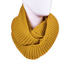 Winter Women Men 2 Circles Infinity Warm Cable Knit Cowl Neck Long Scarf Shawl