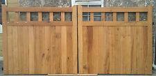 Wooden Open Top Oiled Character Oak Driveway / Estate  Gates, Handmade.