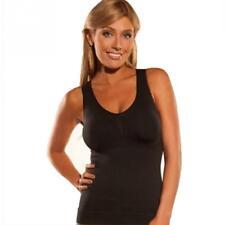 US Women Tank Top Body Shaper with Removable Pads Genie Bra Slimming Shapewear