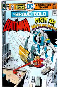 BRAVE AND THE BOLD #123 in VF+ a 1975 DC Bronze Age comic  BATMAN & PLASTIC MAN