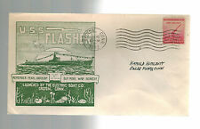 1943 USA NAVY USS SUBMARINE Flasher Groton CT Cover