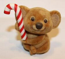 Hallmark Merry Miniature 1984 Christmas Fuzzy Koala with Candy Cane