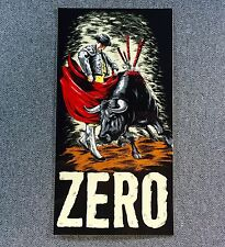 ZERO Matador Bull Fighter Skateboard Sticker 5.8in si
