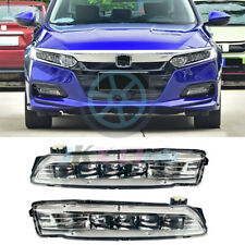 For Honda Accord 2018-2019 LED Fog Lamps Bumper Driving Lights Assembly 2pcs