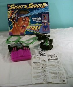 Shout 'N' Shoot II Voice Activated Water Shooter, Cap Toys, #1630, In Box, 1994