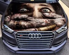 Vinyl Car Hood Full Color Graphics Decal Horror Fear Frankinstein hands Sticker