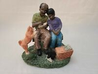 African American figurine black Americana Man & Boy Fishing