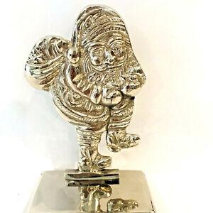 "Stocking Holder Christmas Santa Hook Mantle Long Handle Color Silver 10.25"" L"
