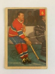 1954-55 Parkhurst #6 Butch Bouchard - Montreal Canadiens (Lot AD)