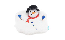 BARK Gnawty or Nice Frosty's Meltdown Snowman Crinkle, Squeaker Dog Toy