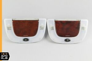 00-06 Mercedes W220 S500 S600 Rear Reading Dome Light Mirror Left & Right Wood