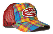 De van Dutch Mesh trucker base Cap [Flannel] carreau Bonnet Casquette snapback Chapeau a