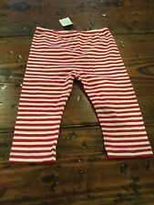 Nwt Infant Girl's Red Striped Leggings 9 Months Cherokee