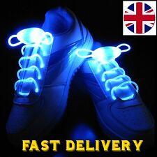 LED Light Up Shoelaces Flashing Glow Stick Shoe Laces Cool Dark Disco Party Blue