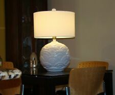 Mid-century White Ceramic Table Lamp by Howard Kron for Texans Incorporated