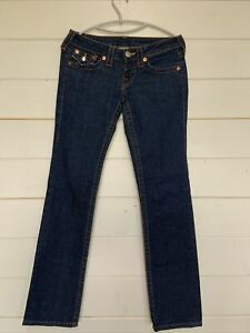 Womens True Religion Billy slim fit Blue Denim Jeans Size 25 Made In USA