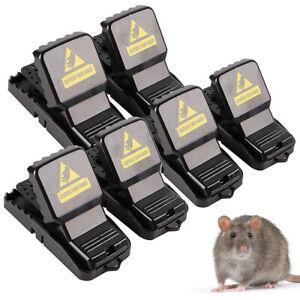 6PCS Home Mouse Trap Rat Mice Squirrel Killer Snap Power Rodent Reusable Catcher