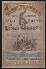 Family Dog - Denver #Fdd 2, Rock Post Card, 1967, Quicksilver Messenger Service