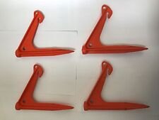 NEW Tent peg x 4 Supa sand anchor peg Angled Orange