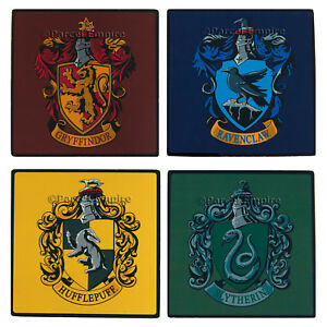 Official Harry Potter TEA COASTERS Gryffindor Ravenclaw Hufflepuff Slytherin