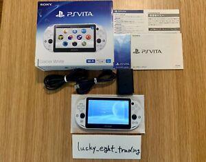 PS Vita Glacier White PCH 2000 ZA22 Box Console Charger Sony PSV Slim Used [Box]