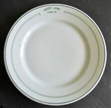 Vintage GREEN LANE FIRE CO Restaurant China Firehouse Dinner Plate by Carr
