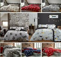 STAR FLEECE DESIGNER TEDDY BEAR SHERPA  DUVET COVER +PILLOWCASE BED SET ALL SIZE