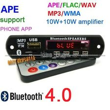Bluetooth 4.0 FLAC WAV WMA MP3 APE audio decoder board 10W+10W power amplifier