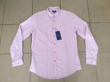 [ BNWT ]    ZARA MAN    Slim fit    Cotton Linen  Shirt     Pink    Size L
