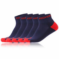 Higherstate Freedom Mens Womens Red Blue Running Anklet Sports Socks 5 Pack