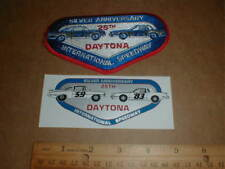 Daytona Speedway hat Patch sticker NASCAR Racing 1959-1983 vtg Chevrolet Impala