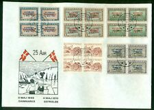 Greenland 1970, 19-27 Complete set of Liberation Ovpts Blks on Anniversay covers