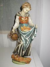 Holzfigur geschnitzt, Heilige Notburga, 32 cm, Oberammergau, Handarbeit, TOP 630