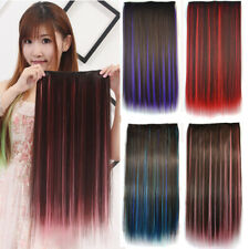 Vogue Women Colorful Synthetic Fibre Straight Hair Extensions 5 Clips Hairpieces