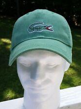 Lacoste Green Cotton Adjustable Baseball Cap Alligator Logo NWOT
