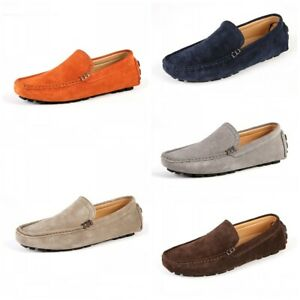 Men Casual Slip On Driving Moccasin Outdoor Flats Lazy Loafer Boat Penny Shoes L