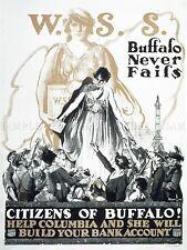 Publicidad Buffalo cuenta bancaria Columbia ciudadano personas arte cartel impresión lv552