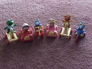 Vintage 1986 McDonald's 6 Happy Meal Muppet Babies Toys Complete Set of 6