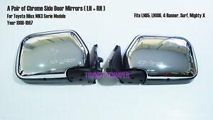 Chrome Wing Door Side Mirror Toyota Hilux MK3 LN85 Ln106 4Runner Surf 1988-1997