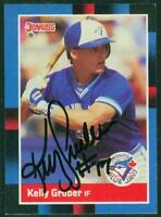 Original Autograph of Kelly Gruber of the Blue Jays on a 1988 Donruss Card